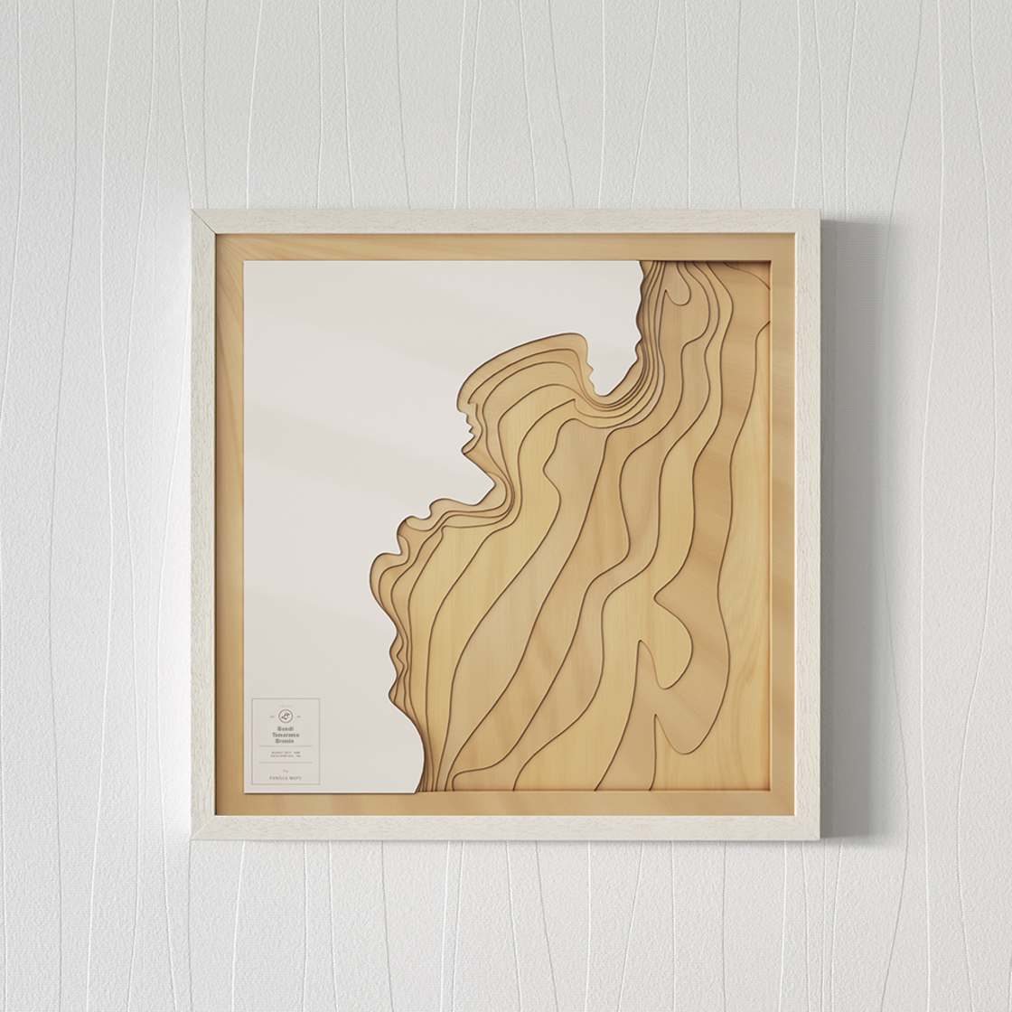 Pangea Maps - Explore the seabed with these stunning wooden maps