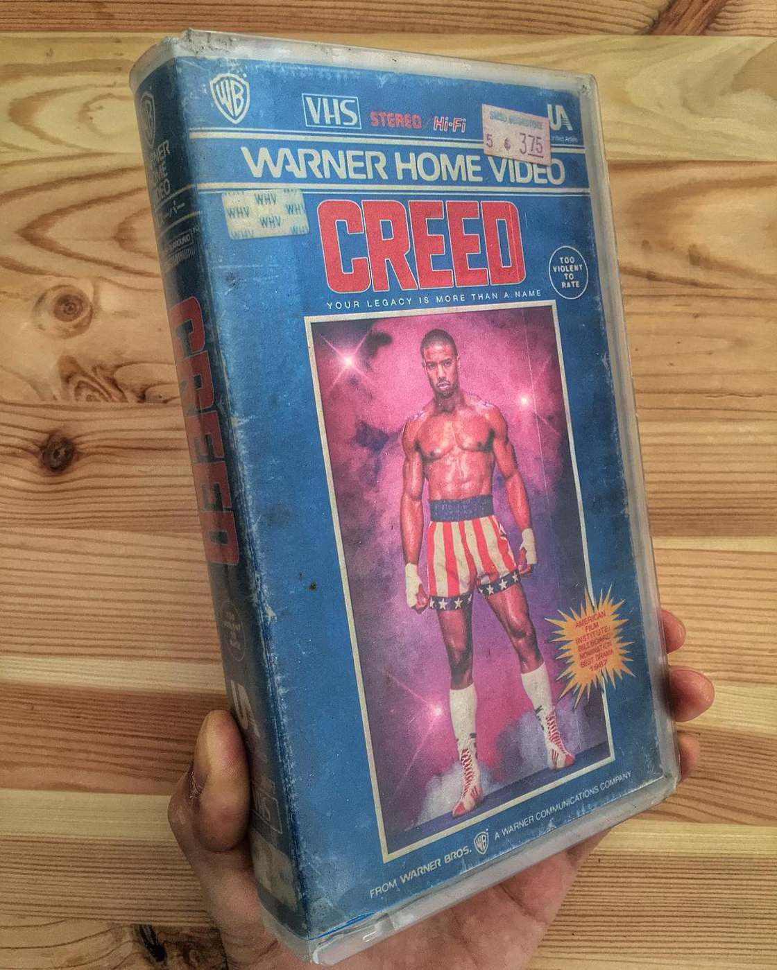 Modern movies and series as VHS tapes