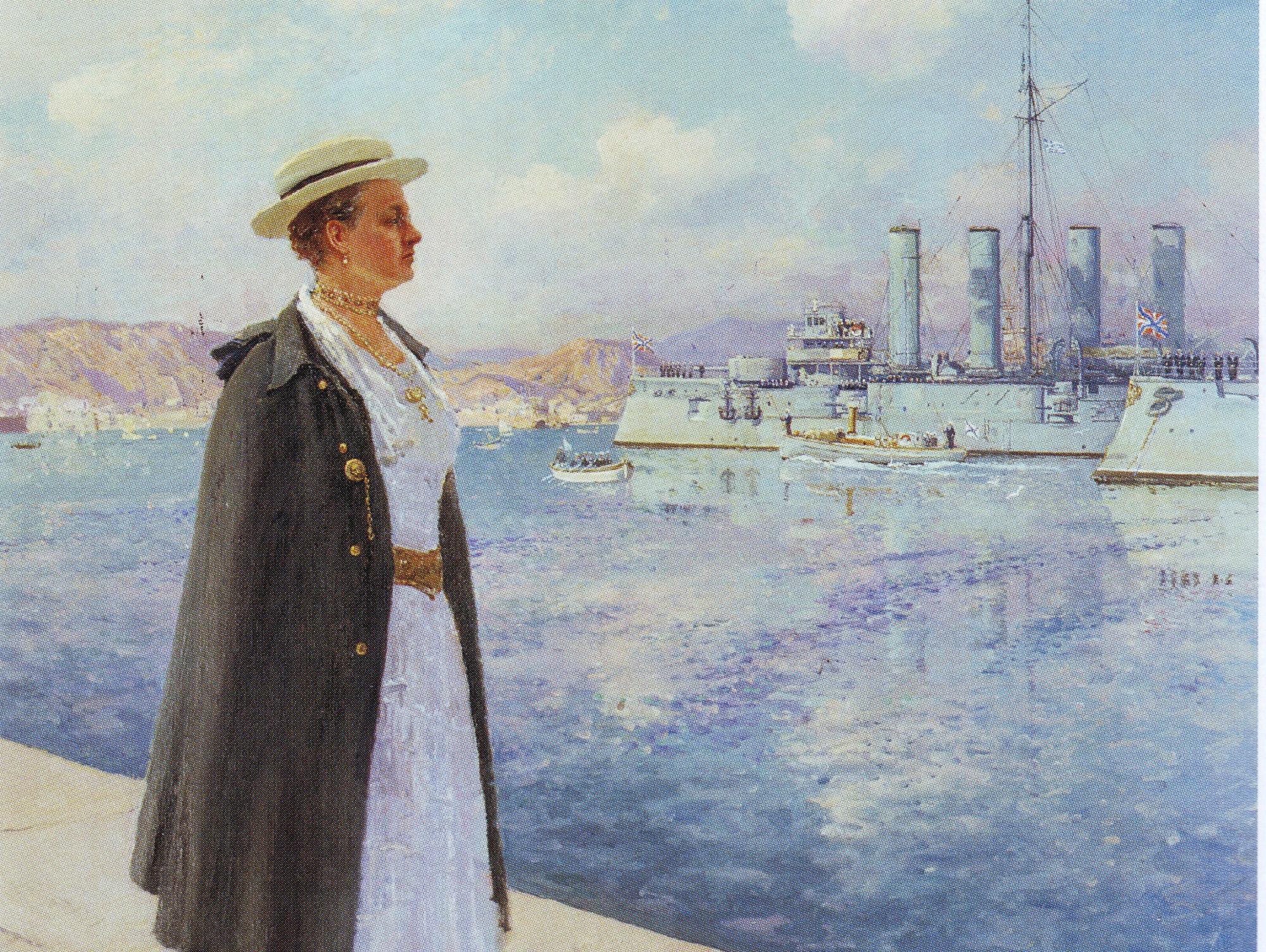 Королева Эллинов Ольга Константиновна шеф 12 ФЭ и КР Адмирал Макаров.jpg