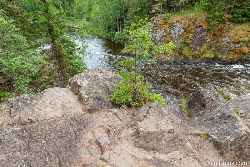 Водопад Кивач, река Суна, Карелия
