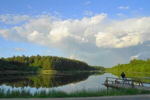 радуга на озере