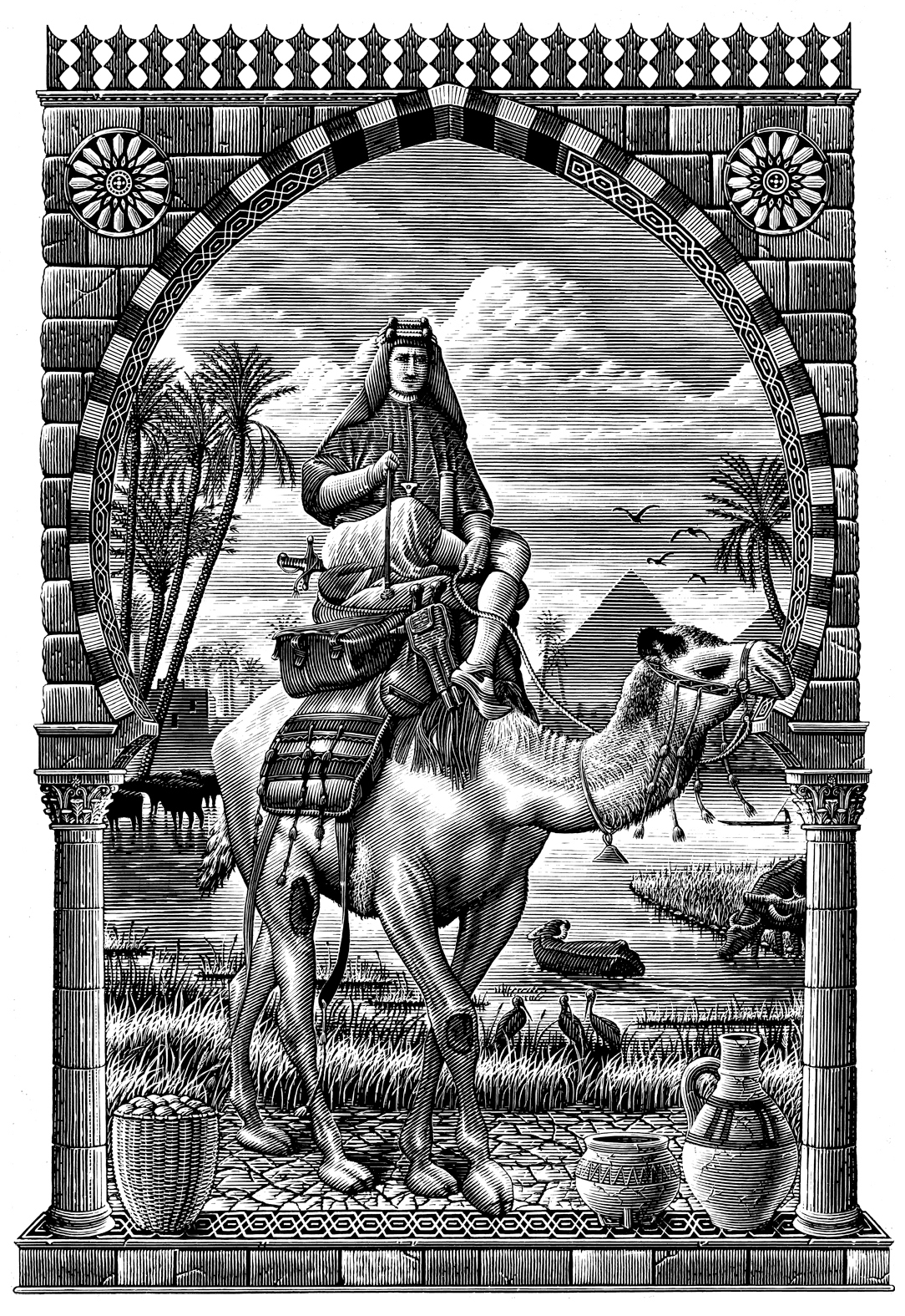 The Historical Scratchboard Illustration Collection by Steven Noble