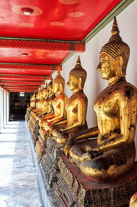 золотой будда - галерея в храме