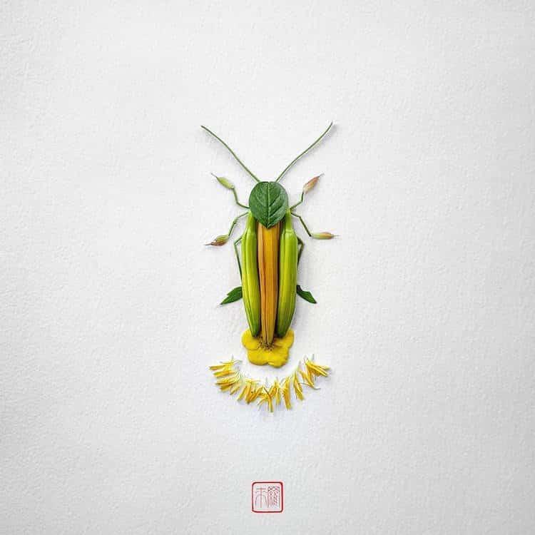 Раку Иноуэ. Насекомые, созданные из растений.