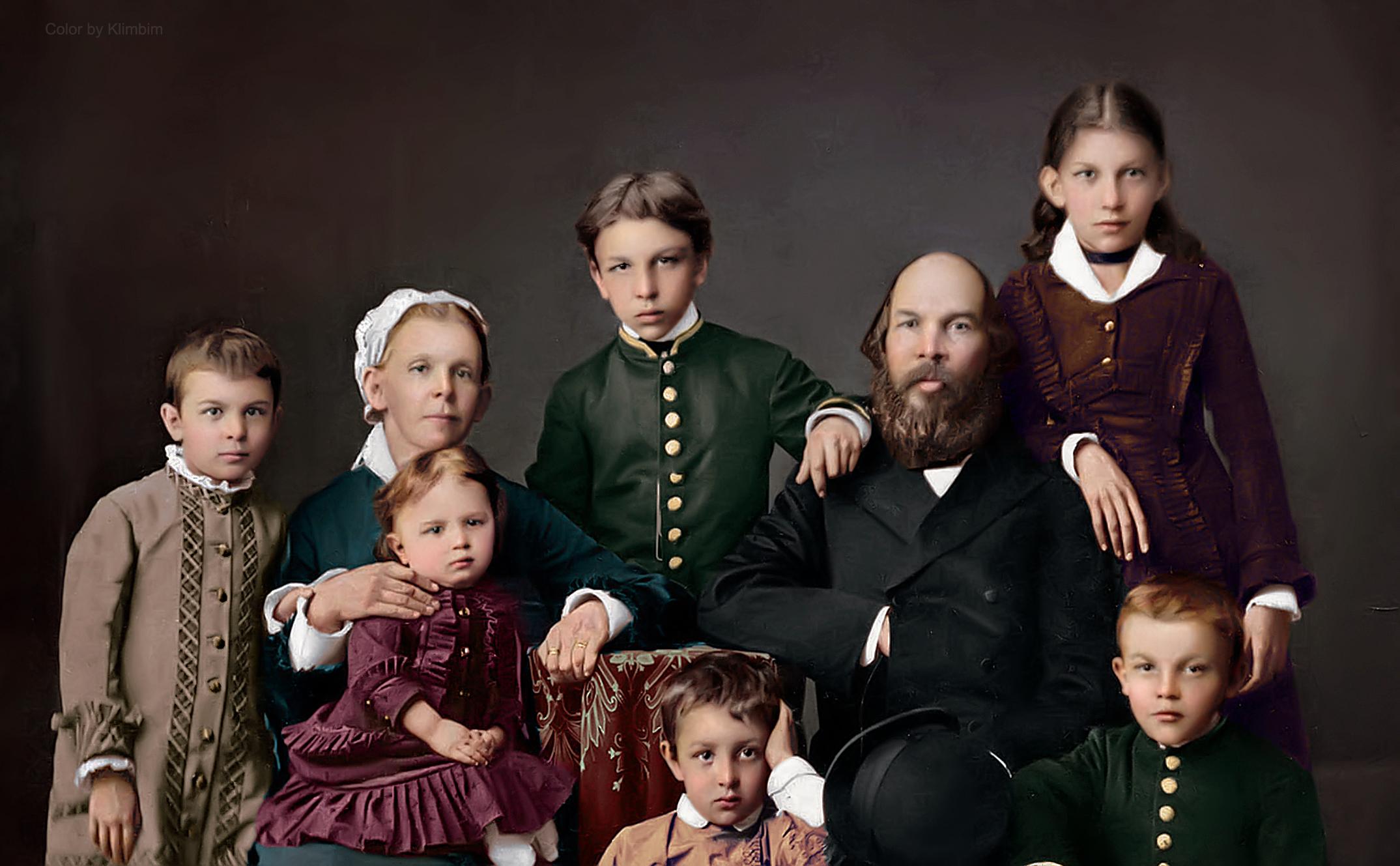 Семья Ульяновых. 1879