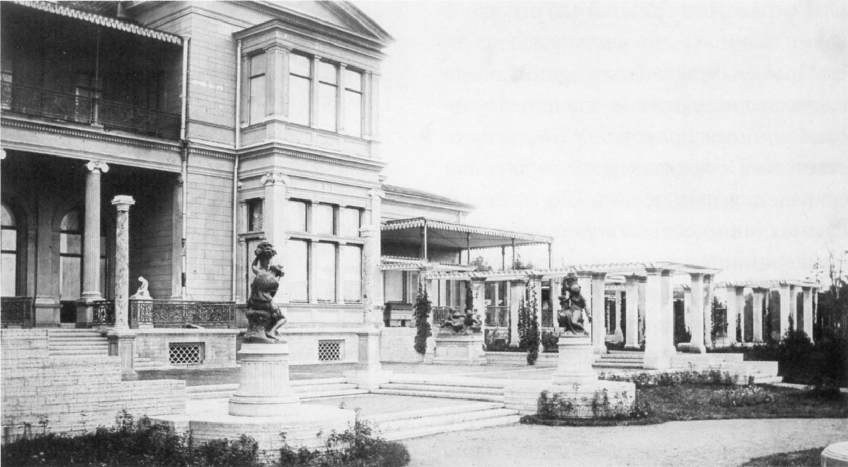 Терраса перед Гостиной Большого дворца. 1862
