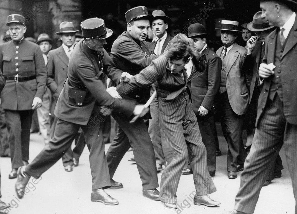 Verhaftung eines Demonstranten