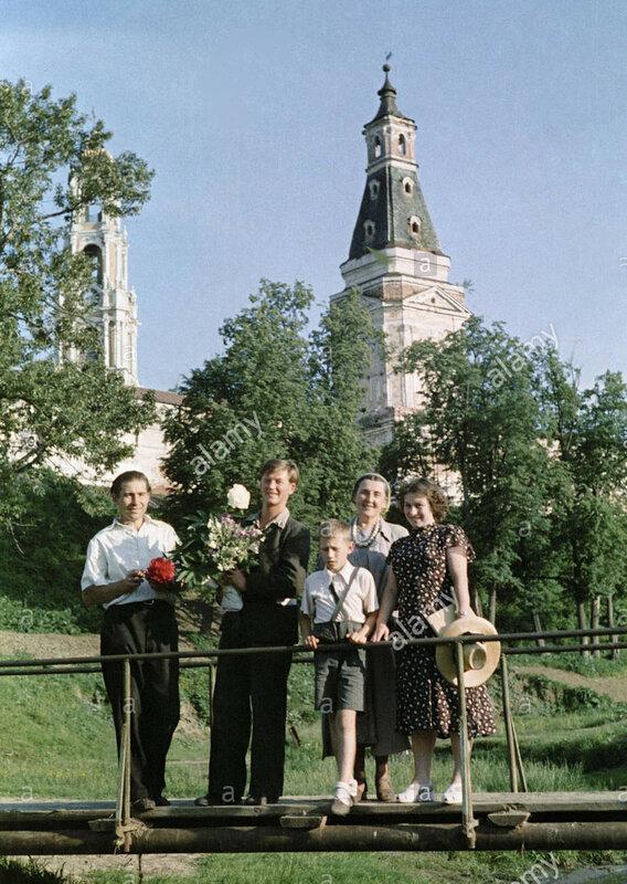 1963 Zagorsk. USSR. A Zagorsk family  TASS.jpg