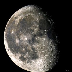 Убывающая Луна (~80%)