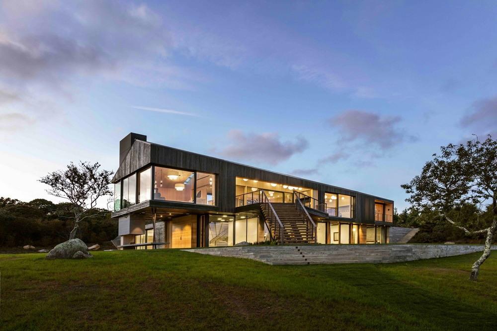 Современный дом-амбар на острове Мартас-Винъярд