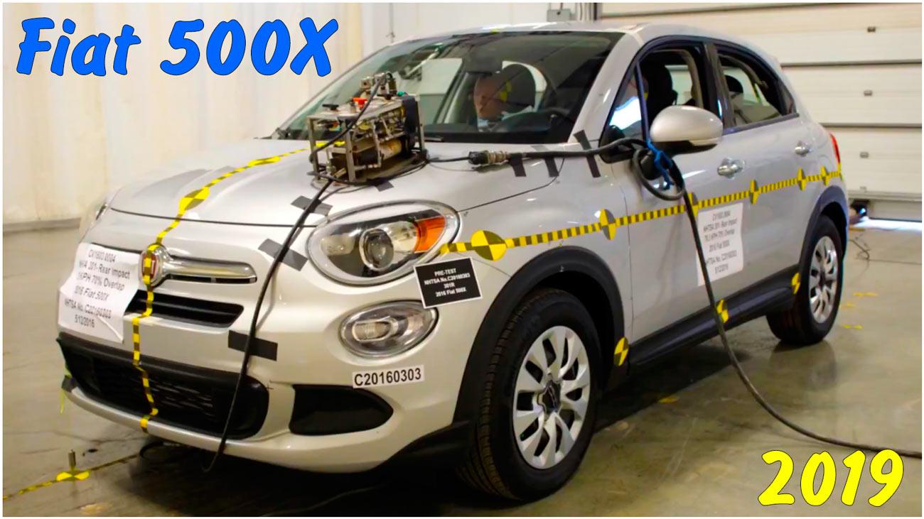 Задний краш-тест Fiat 500X 2019