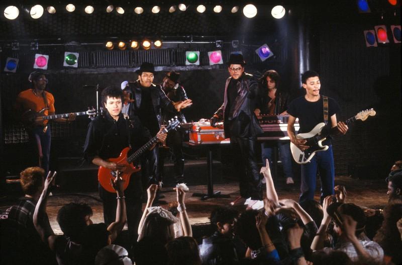 Выступление Run-D.M.C. в Нью-Йорке 1 мая 1984 года.