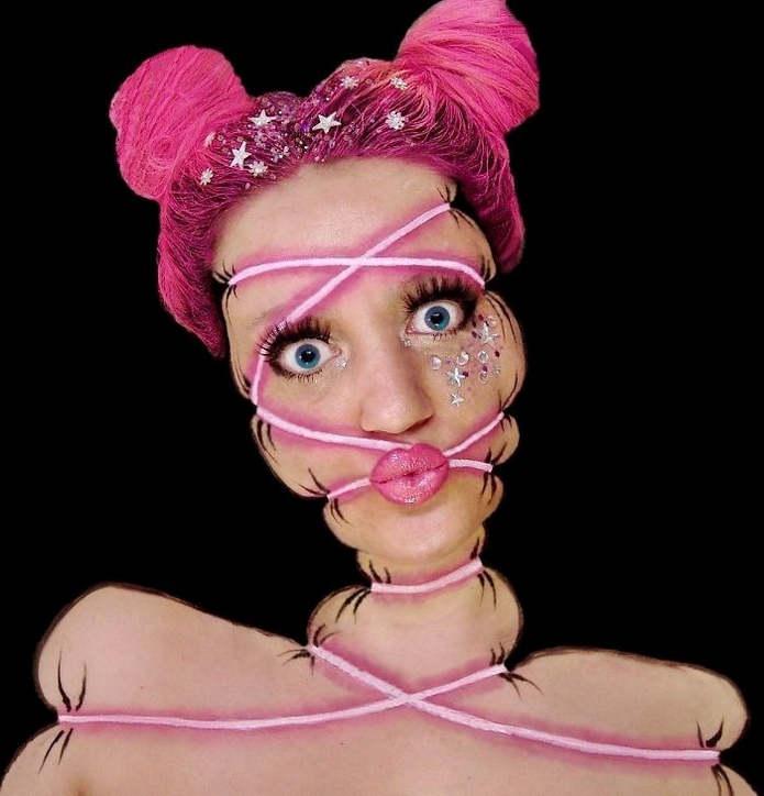 Мейкап Инес Кус (Ines Kus): занятие бодипейнтингом не для слабонервных