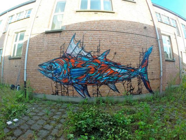 Murals of Animals in Antwerp