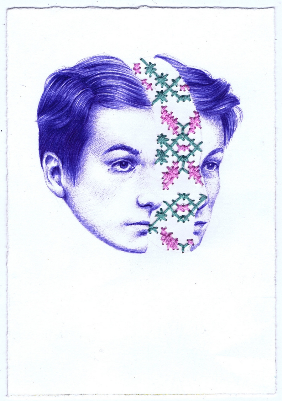 Nuria Riaza's Psychic Ballpoint Pen Drawings