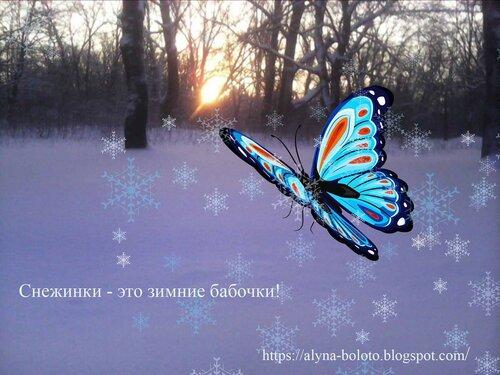 Снежинки - зимние бабочки