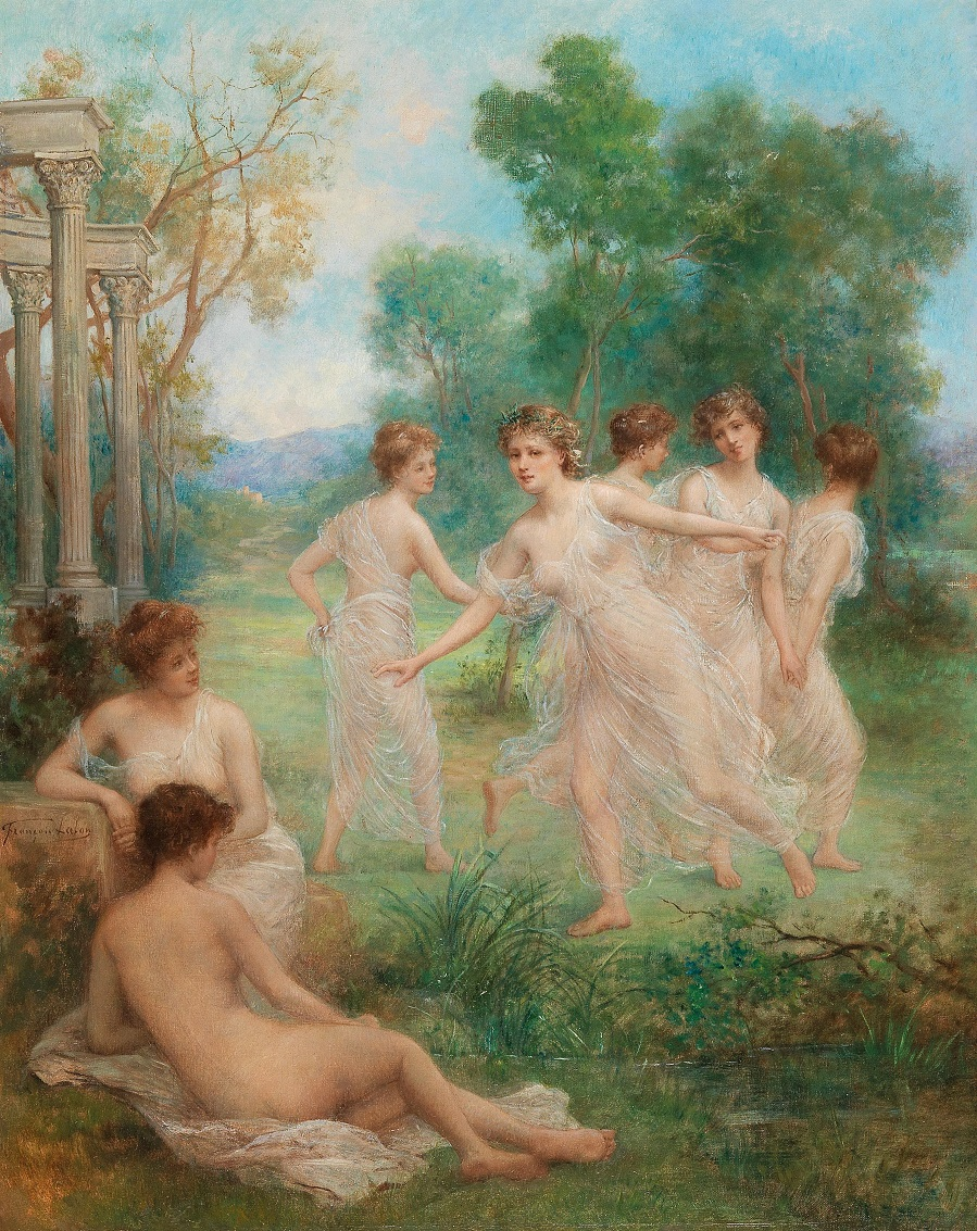 Nymphs dancing.
