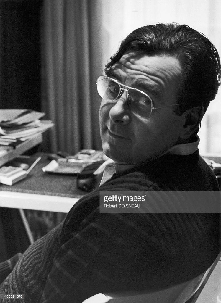 1985. Портрет французского журналиста и телеведущего Бернара Пиво