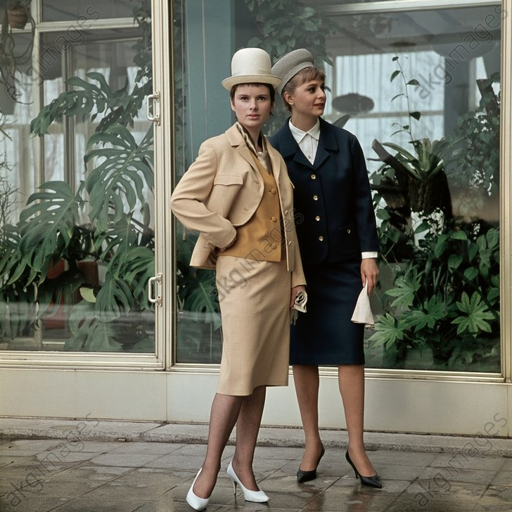 Kostьme u. passende Hьte / Foto, 1964 - Ladies' Suits and Hats / Photo / 1964 -