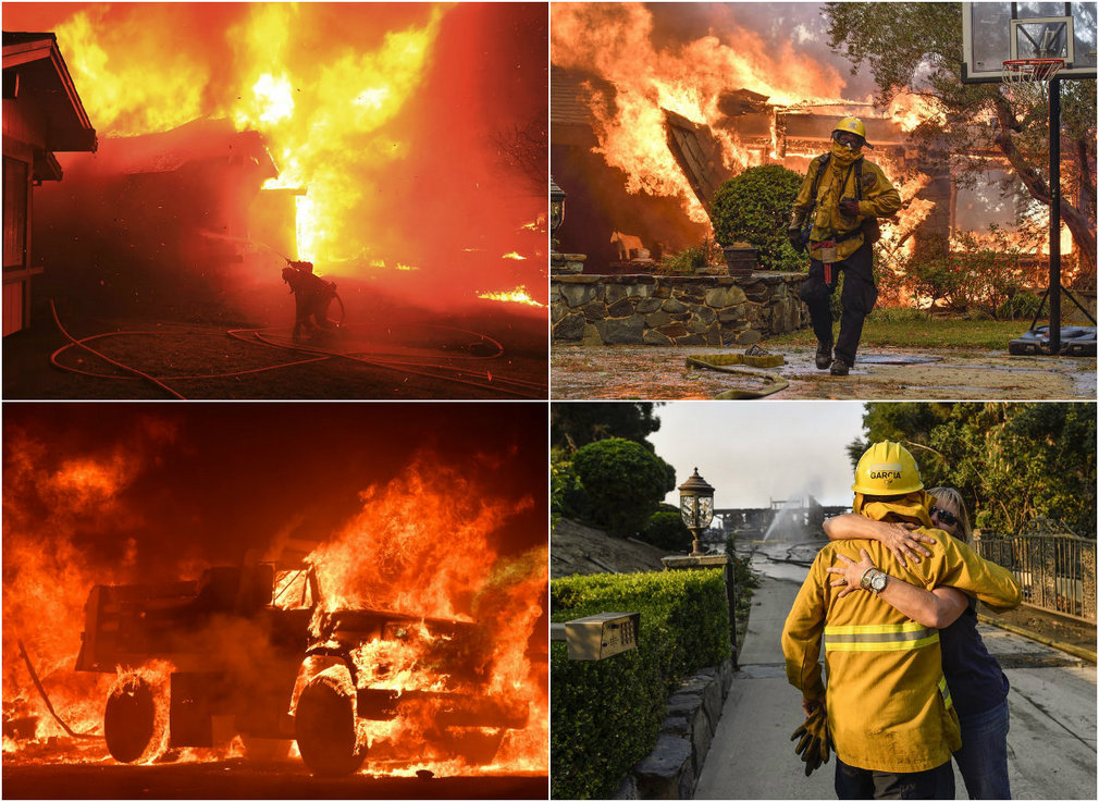 Масштабные пожары в Калифорнии