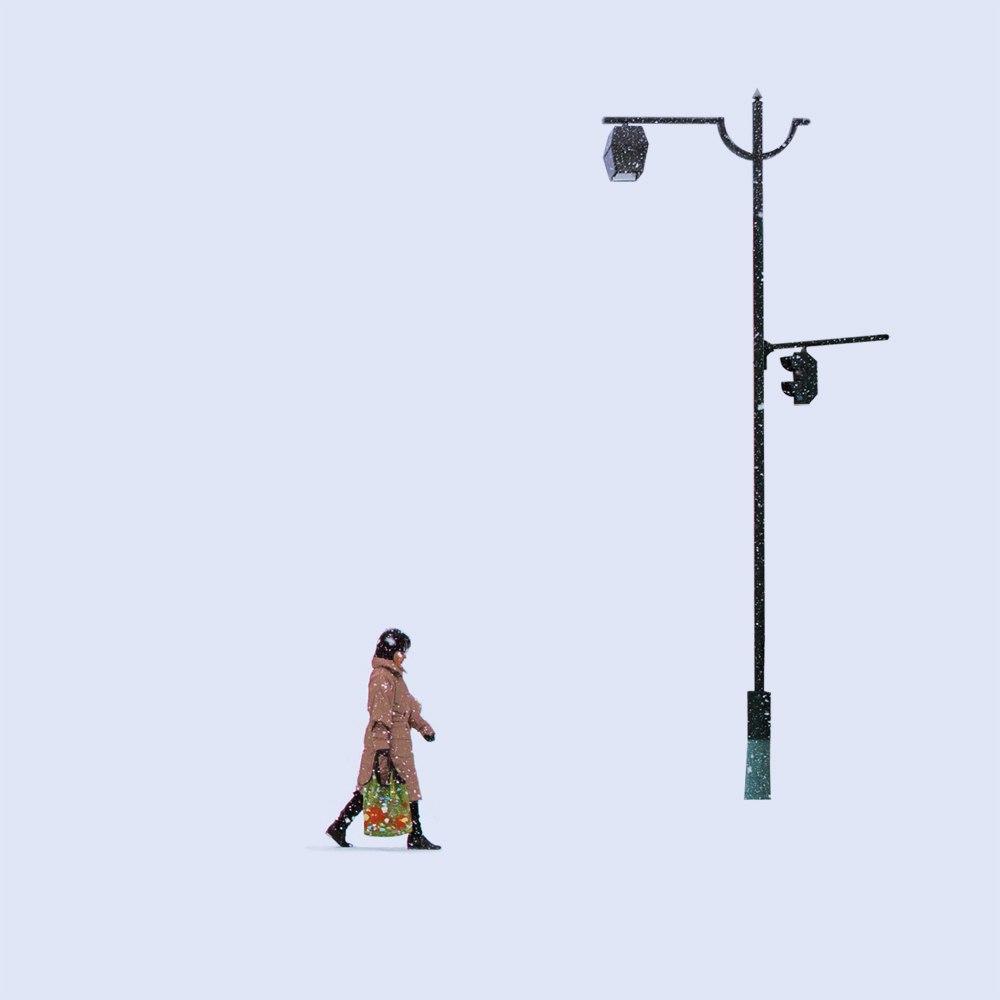 Тишина и одиночество заснеженных японских городов на снимках китайского фотографа