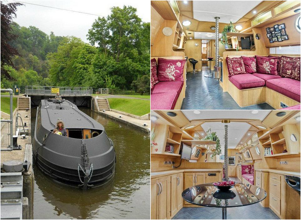 Британские пенсионеры продают комфортный плавающий дом