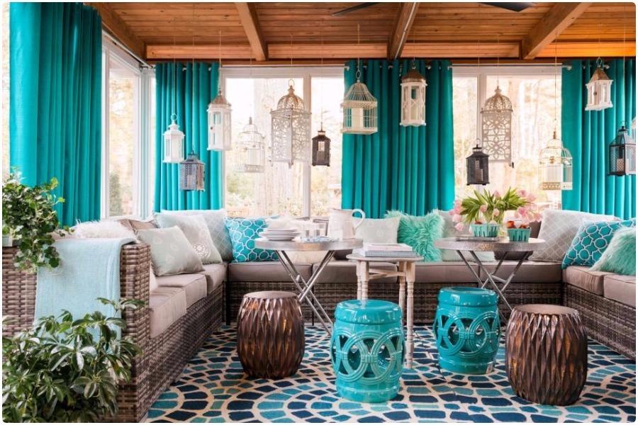 Патио, терраса — декор внутреннего дворика