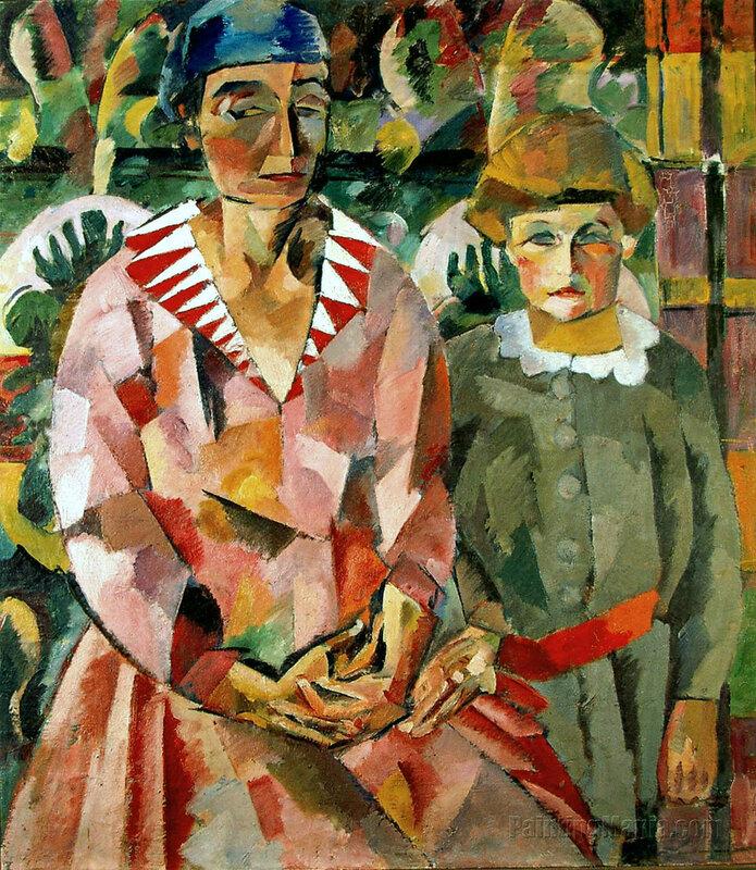 Портрет жены и дочери
