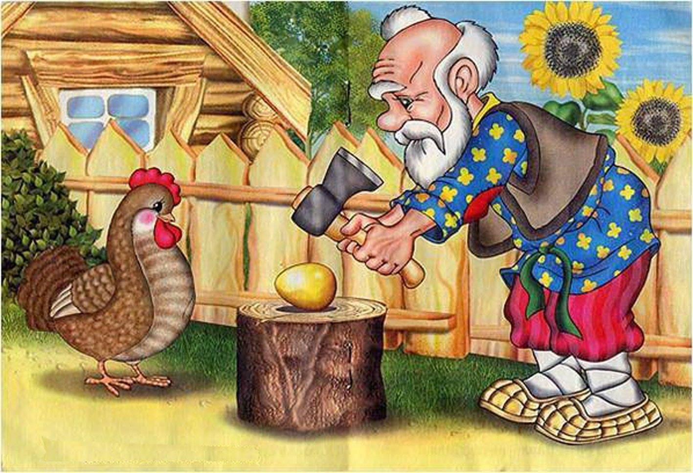 Всемирный день яйца. старик пытается разбить яйцо топором