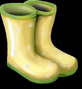 зеленые резиновые сапоги