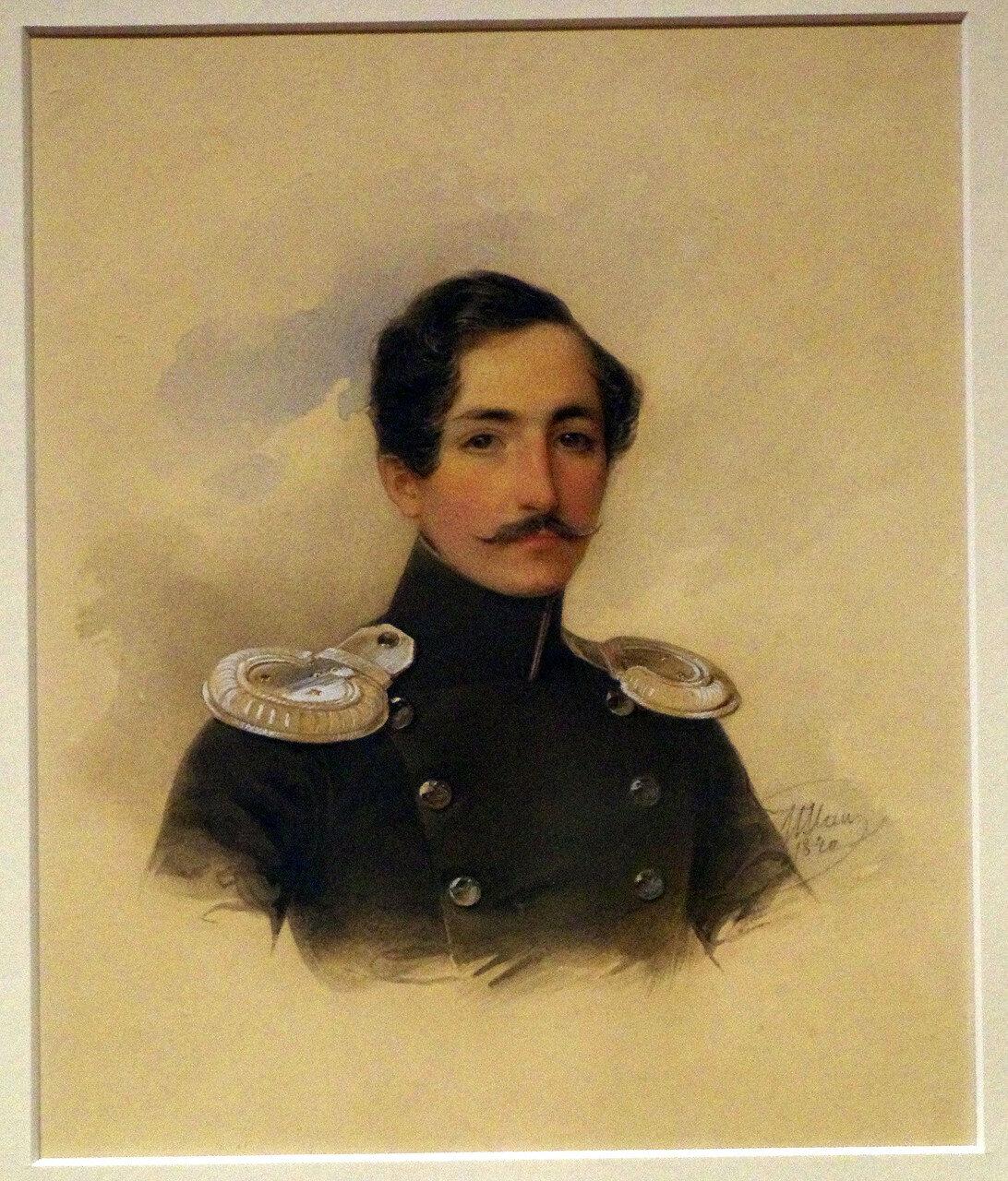Владимир Иванович Гау. Портрет князя А.Б. Куракина. 1840 (или 1838 как в англ. версии таблички)