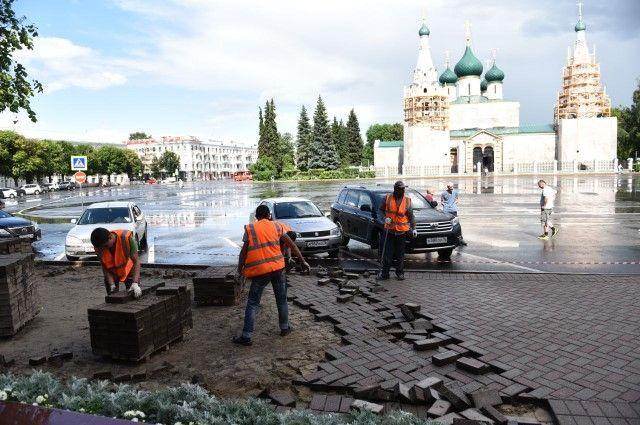 Взоне ЮНЕСКО вЯрославле отремонтируют тротуары
