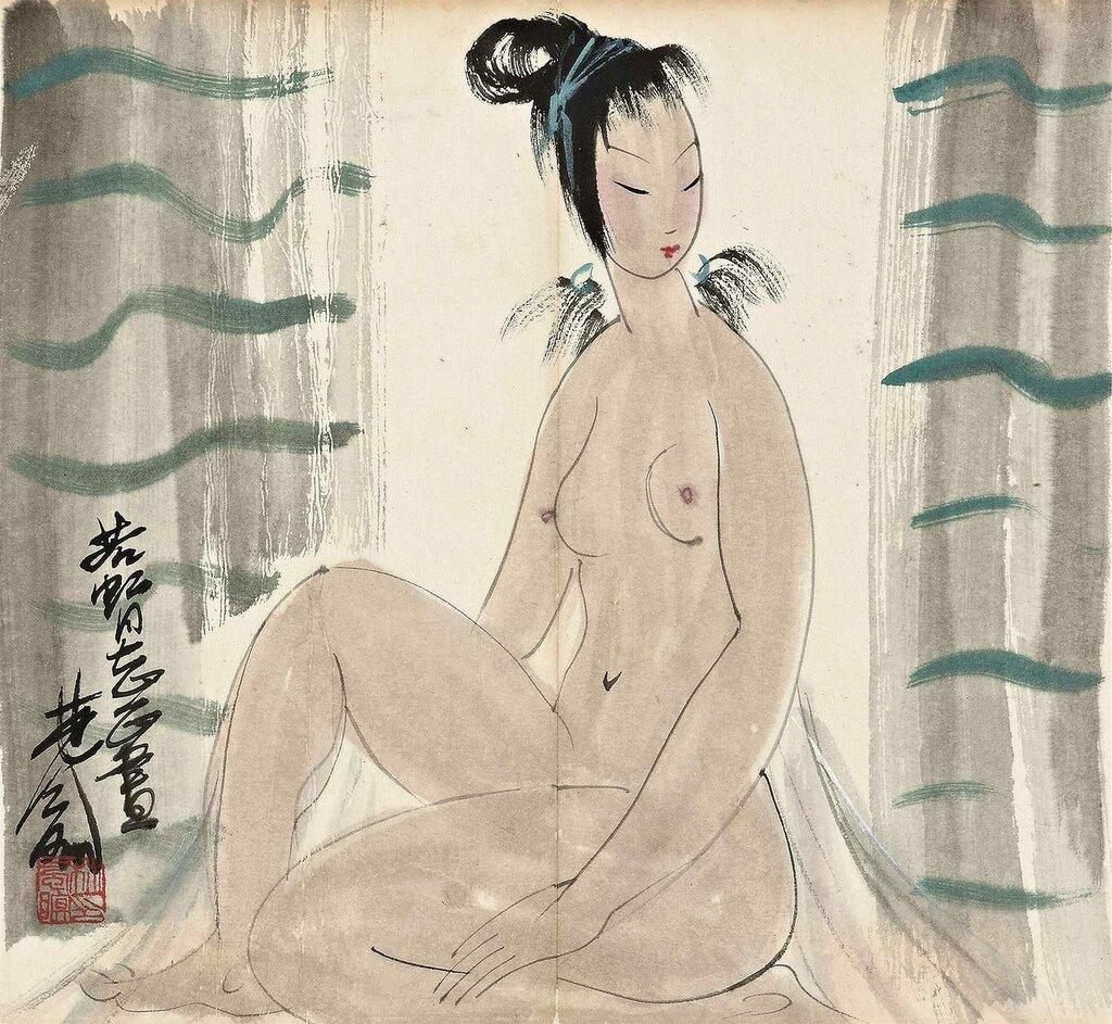 Lin Fengmian, 1900-1991. Обнаженная. 30.3 x 32.8 см. Частная коллекция.jpg