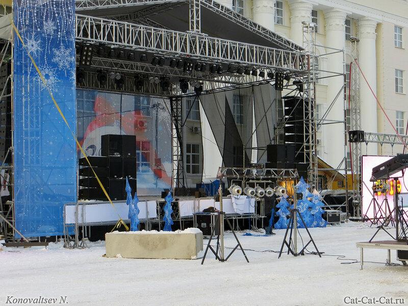 Дом Правительства, Ульяновск, зима 2018
