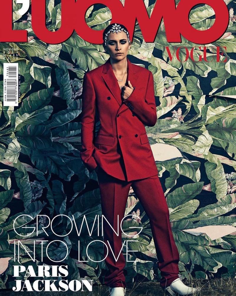 Пэрис Джексон в L'Uomo Vogue