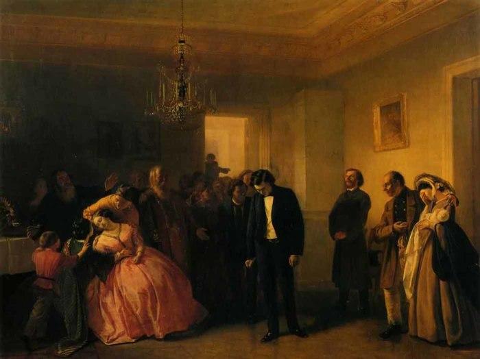 В картинах передвижников и других русских реалистов второй половины XIX века часто можно встретить с