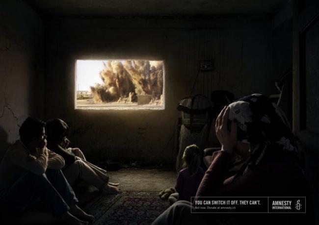 © Amnesty International /  © Ogilvy&Mathers      «Безопасность никогда невы