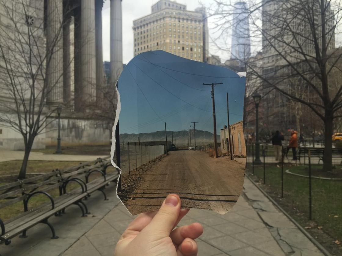 Realtime Collages – Artist inserts vintage photos into reality
