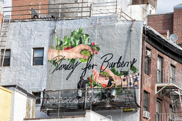 Artist Blondey McCoy Created Three Murals for Burberry in NYC
