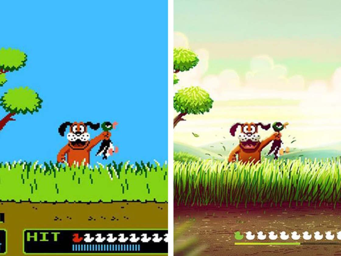 Un illustrateur donne un coup de jeune aux jeux video retro de la NES (6 pics)