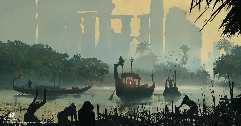 Assassin's Creed Origins Concept Art by Martin Deschambault