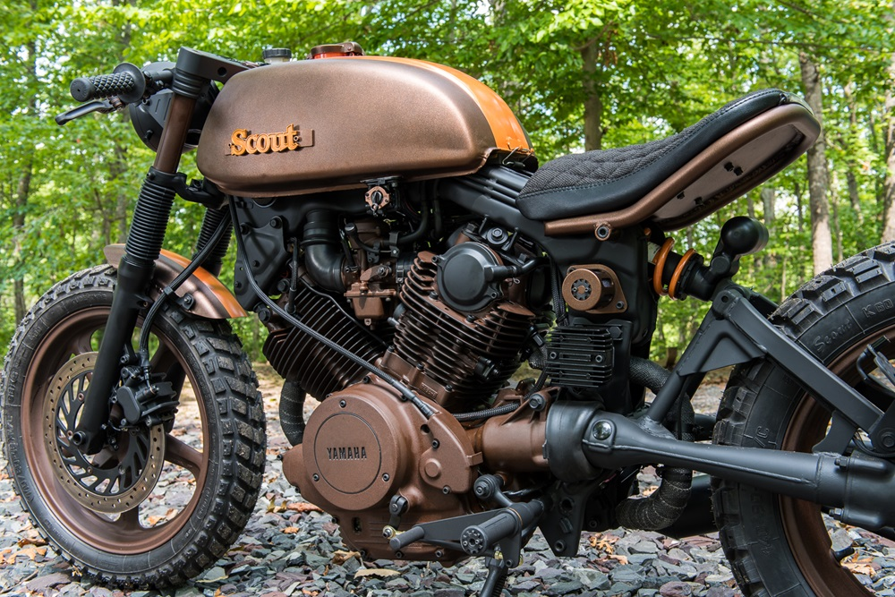 Industrial Moto - Project Scout: скрэмблер Yamaha XV750 1983