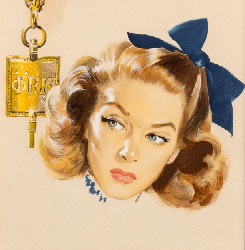 Nobody Loves a Phi Bete, Ladies' Home Journal interior illustration, 1941