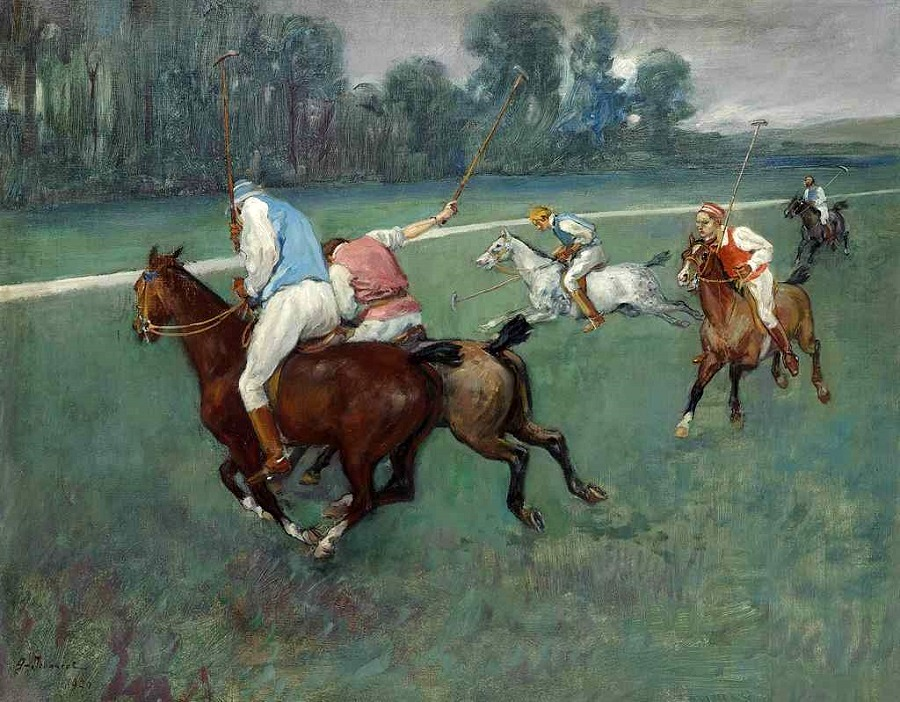 A game of polo, 1920