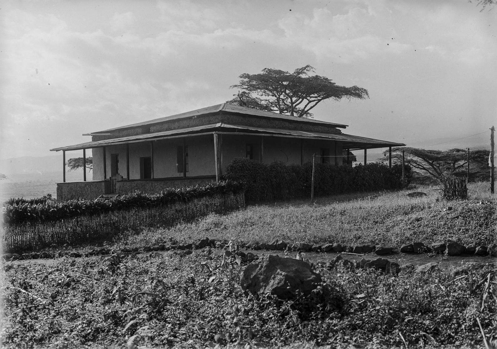 170. Вид на луг и дом с верандой