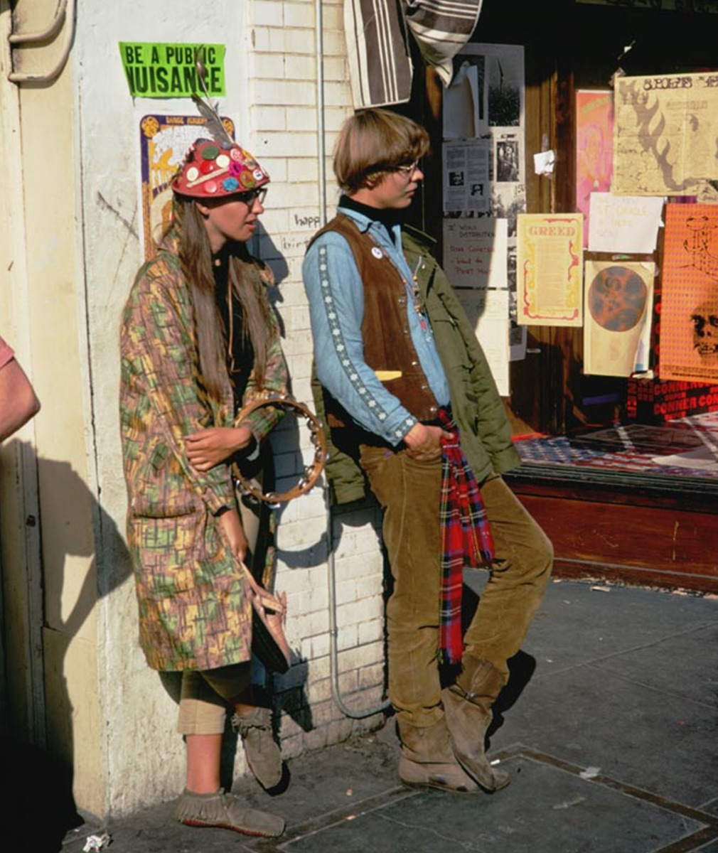 1967. Хиппи на улицах Сан-Франциско