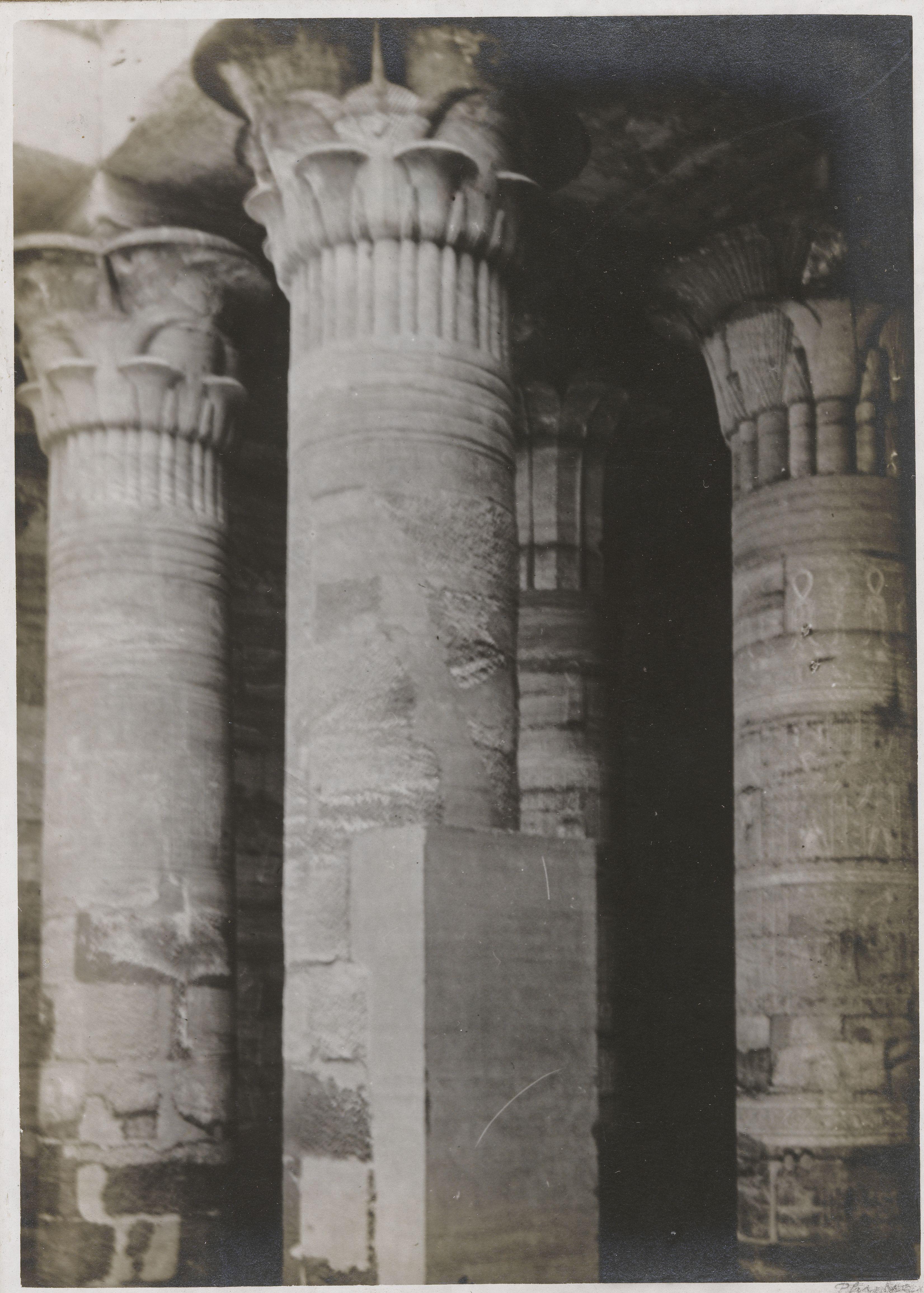 Филе. Храм Исиды, колонны