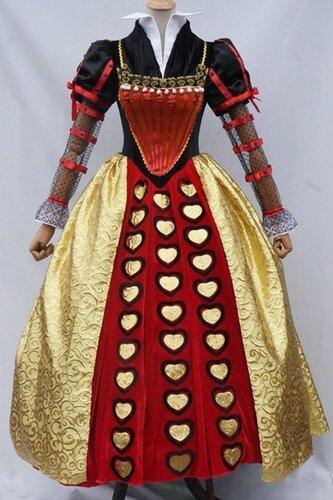 Женский карнавальный костюм Красная Королева