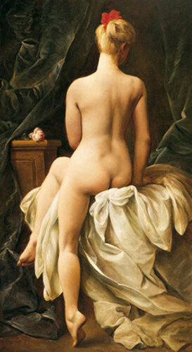 Подборка живописи Сидящая обнаженная со спины (ню сзади)