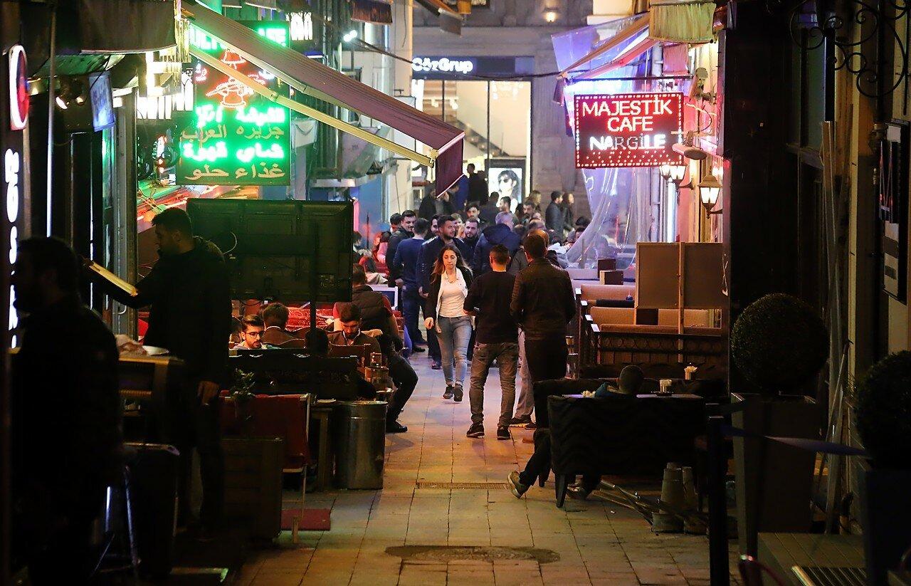 Istanbul, Beyoglu.  Nightlife in Katip Mustafa Çelebi